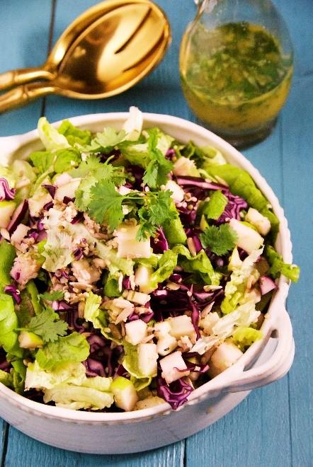 Apple Cabbage Salmon Salad