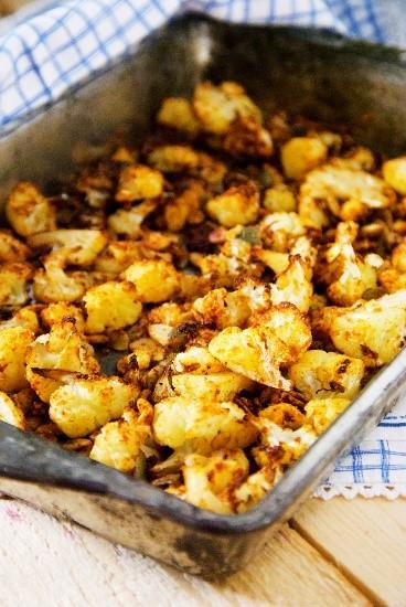 Roasted Cauliflower Crunchies