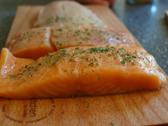 salmon salad capers dill
